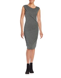 Velvet By Graham And Spencer Crossfront Ruched Dress Charcoal Grey