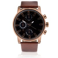 River Island Mens Rose Gold Tone Oversized Watch