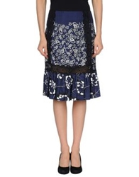 Marc Jacobs Knee Length Skirts Dark Blue