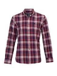 Raging Bull Big And Tall Long Sleeve Large Multi Check Shirt Claret