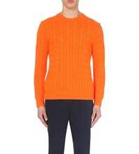 Ralph Lauren Cable Knit Cotton Jumper Laser Orange