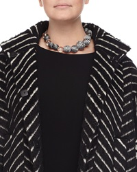 Lucilla Geometric Ball Necklace Marina Rinaldi