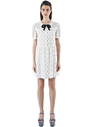 Saint Laurent Embroidered Ice Cream Babydoll Dress White