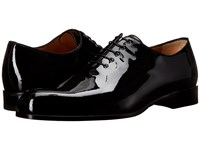 A. Testoni Patent Leather Dress Oxford Black Men's Lace Up Casual Shoes