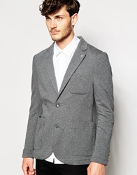 Peter Werth Jersey Blazer In Slim Fit Greymarl