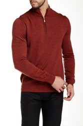 Toscano 1 4 Zip Mock Wool Sweater Red