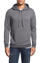 Men's 1901 Merino Wool And Cashmere Hoodie Grey Chromium
