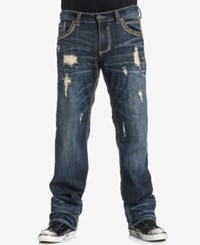 Affliction Men's Blake Fleur Relaxed Straight Fit Stretch Jeans Knoxville
