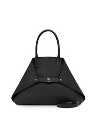 Akris Ai Small Top Handle Tote Bag Black