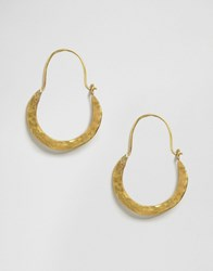 Made Crescent Hoop Earrings Gold