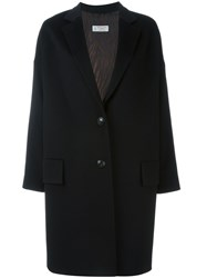 Alberto Biani Single Breasted Coat Black