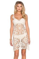 For Love And Lemons Riviera Crochet Cover Up Ivory