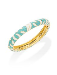 Kenneth Jay Lane Couture Collection Turquoise Tiger Striped Bracelet White Turquoise