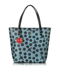 Vivienne Westwood Dotmania Leather Tote Bag Gray Black