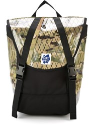 Pmw Mfg Camouflage Print Backpack Green