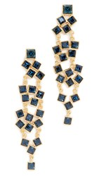 Kenneth Jay Lane Square Cluster Drop Earrings Montana
