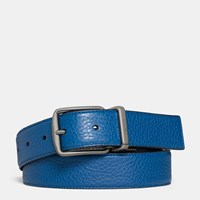 Coach Regular Harness Cut To Size Reversible Belt Denim Midnight