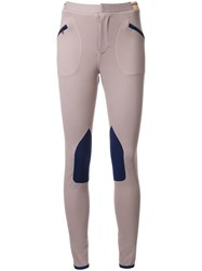 Theatre Products Zipped Pockets Skinny Trousers Brown