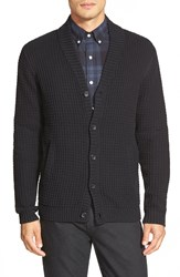 Calibrate Shawl Collar Button Front Cardigan Black Caviar