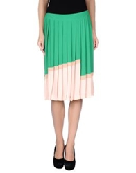 Just In Case Knee Length Skirts Green
