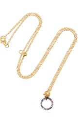 Katie Rowland Wawa Gold Plated Silver Crystal Necklace
