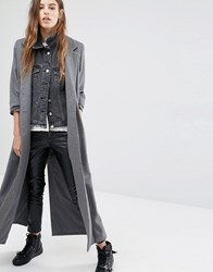 Religion Maxi Wool Coat Grey
