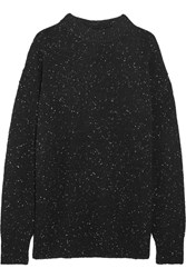 Tibi Boyfriend Wool Blend Sweater Black