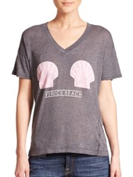 Wildfox Couture Venice Shells Tee Dirty Black