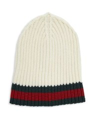 Gucci Charui Striped Wool Hat Red Grey White Navy Black