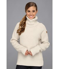 Fjall Raven Vik Roll Neck Ecru Women's Sweater Khaki
