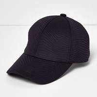 River Island Womens Navy Quilted Sporty Cap