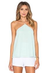 Line And Dot Riviera Halter Top Mint