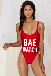 Nasty Gal Private Party Bae Watch Swimsuit