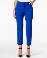 Charter Club Bistretch Slim Crop Pants Only At Macy's Modern Blue