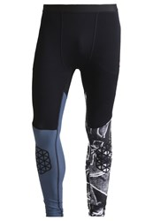 Reebok Spartan Tights Black Collegiate Navy
