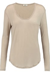 L'agence Stretch Jersey Top Nude