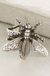Anthropologie Honey Bee Ring Silver