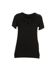 In Side Short Sleeve T Shirts Black