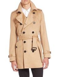 Burberry Kensington Sand Cashmere Trench Coat