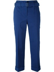 3.1 Phillip Lim Belted Cropped Trousers Blue