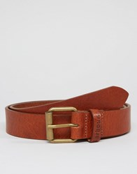 Barbour Leather Belt In Tan Tan