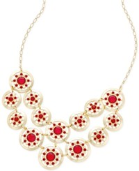 Styleandco. Style And Co. Gold Tone Red Stone Cut Out Drama Necklace Only At Macy's
