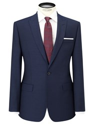 Daniel Hechter Pindot Peak Lapel Tailored Suit Jacket Navy