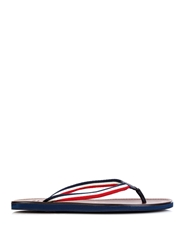 Moncler Striped Canvas And Leather Flip Flops