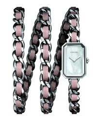 Chanel Stainless Steel And Woven Leather Watch