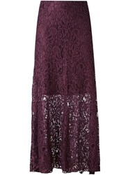 I'm Isola Marras Long Lace Skirt Pink And Purple
