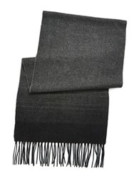 Black Brown Ombre Scarf Black