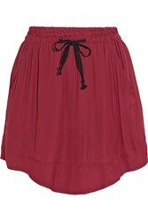 Etoile Isabel Marant Brick Voile Mini Skirt Crimson