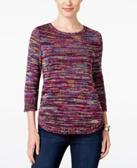 Ny Collection Petite Space Dyed Sweater Elysa