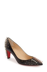 Women's Christian Louboutin 'Goldopump' Spiked Pointy Toe Pump